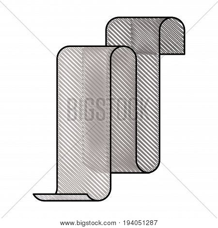 colored pencil silhouette gray of continuously long sheet vector illustration