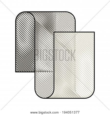 colored pencil silhouette of continuously long sheet vector illustration