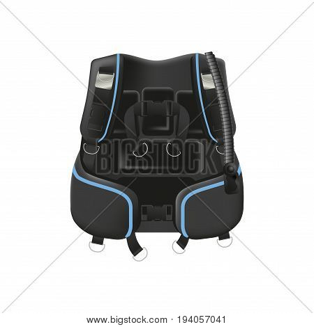 Scuba diving gear. Buoyancy compensator isolated on white background