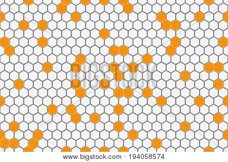 Honeycomb Seamless Pattern. Geometric Hexagons Background