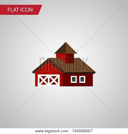 Isolated Ranch Flat Icon. Shed Vector Element Can Be Used For Ranch, Shed, Barn Design Concept.