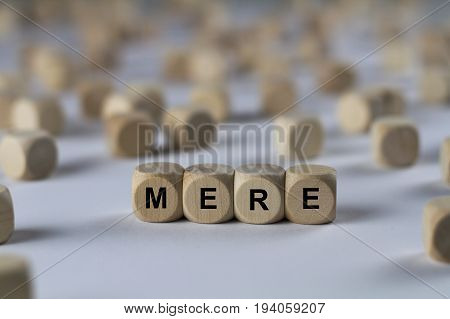 Mere - Cube With Letters, Sign With Wooden Cubes