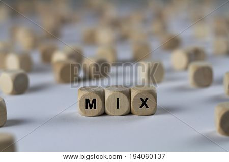 Mix - Cube With Letters, Sign With Wooden Cubes