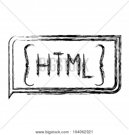 monochrome blurred silhouette of rectangle text html vector illustration