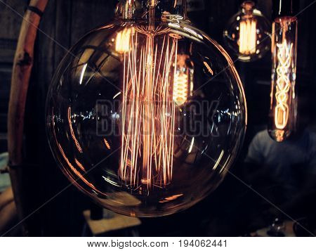 The Lamp of thought in glass tube