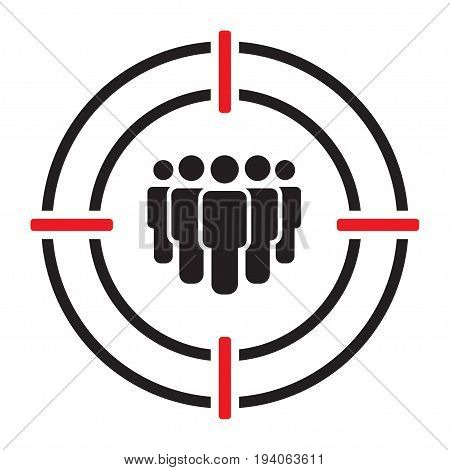 Target Audience Vector Icon on white background