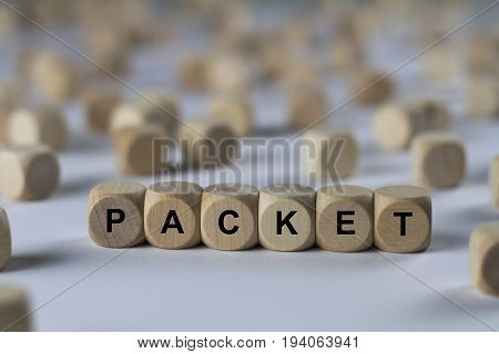 Packet - Cube With Letters, Sign With Wooden Cubes