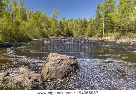 Temperance River - A river in the woods.
