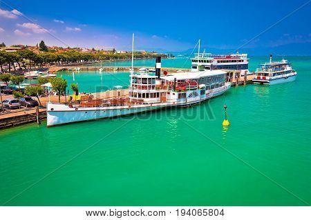 Lago Di Garda Tourist Boats In Peschiera Del Garda Harbor