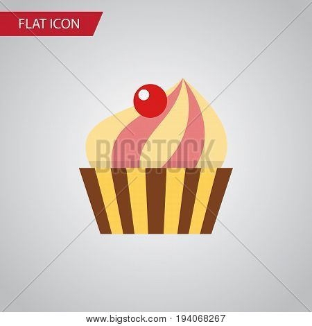 Isolated Confectionery Flat Icon. Sweetmeat Vector Element Can Be Used For Sweetmeat, Confectionery, Cupcake Design Concept.