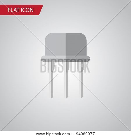 Isolated Opposition Flat Icon. Resist Vector Element Can Be Used For Semiconductor, Fiildistor, Resist Design Concept.