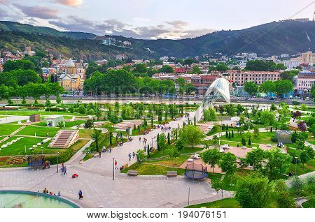 The Park In Heart Of Tbilisi