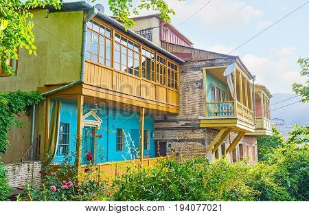 Restored Houses In Old Tbilisi