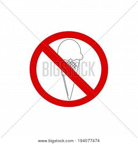 ice cream symbol icon warning stop background