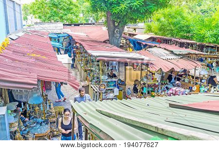The Flea Market At The Dry Bridge In Tbilisi