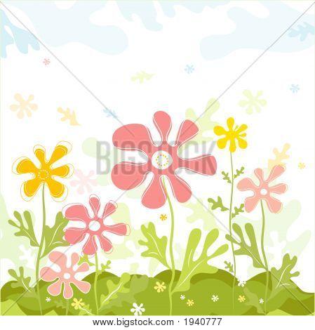 Frühlingsblumen, Vektor, Vektor