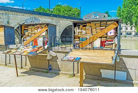 The Book Stalls On Embankment In Tbilisi