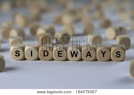 Sideways - Cube With Letters, Sign With Wooden Cubes