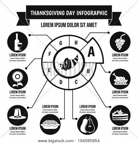 Thanksgiving Day infographic banner concept. Simple illustration of Thanksgiving Day infographic vector poster concept for web