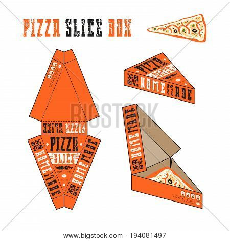 Design Of Box For Pizza Slice