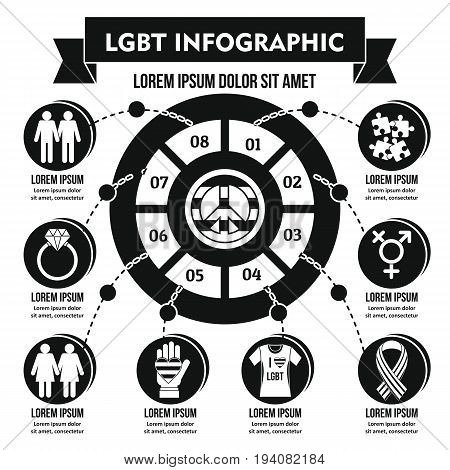 LGBT infographic banner concept. Simple illustration of LGBT infographic vector poster concept for web