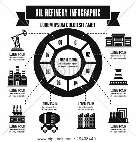 Oil refinery infographic banner concept. Simple illustration of oil refinery infographic vector poster concept for web