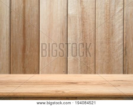 wooden counter top with timber wood background