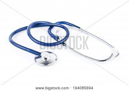 Stethoscope isolated on white. Medical equipment. Health. Medicine.
