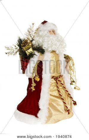 Santa Facing Right On White Background