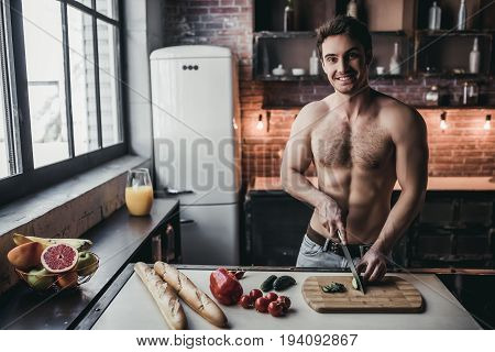 Man On Kitchen