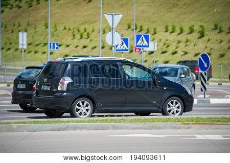 VILNIUS - JULY 6: Toyota Corolla Verso on July 6, 2017 in Vilnius, Lithuania. The Corolla Verso is a 5-door estate Compact MPV first released by Toyota in 1997.