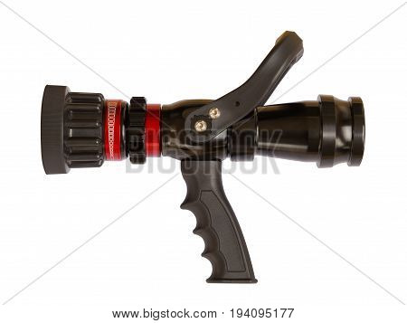 fire hose nozzle isolated on white background. clipping path.