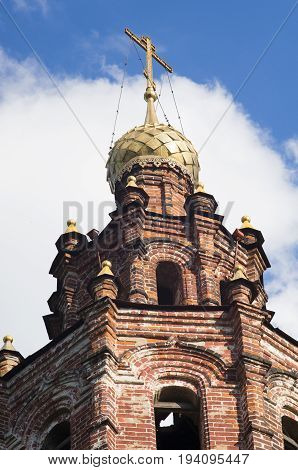 A beautiful view of the St. John the Baptist Church in Yaroslavl, Russia. A very popular touristic landmark.