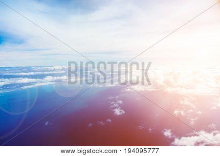 Skyline With Lensflare Effect