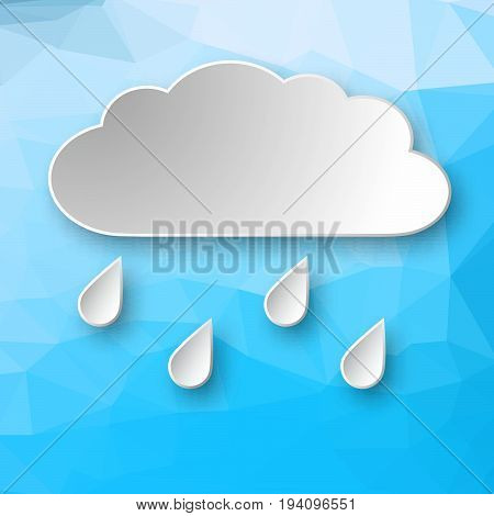 Paper Cloud On Geometric Background