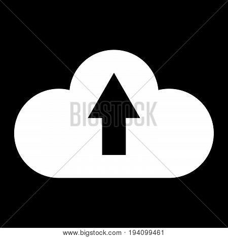 Cloud Service  The White Color Icon .