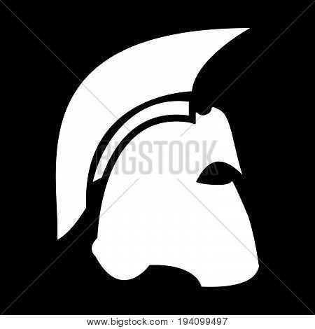 Spartan Helmet  The White Color Icon .