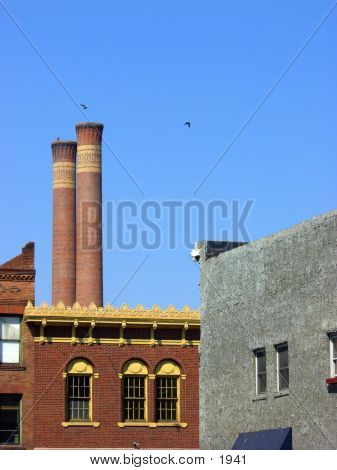 Deserted Steam Plant in downtown Spokane Washington. poster