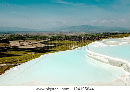 Pammukale, The travertines of calcium. Turkish resort, the unique thermal water rich in calcium