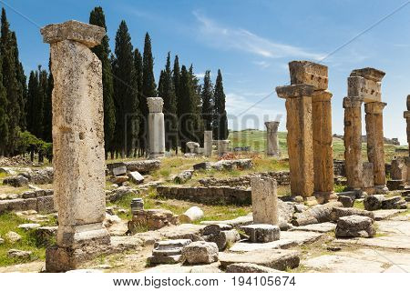 The ruins of the ancient city, Italy Sicily