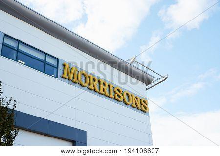 Birmingham, UK - 6 November 2016: Exterior Of Morrisons Supermarket In Birmingham