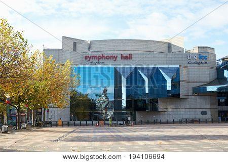 Birmingham, UK - 6 November 2016: Exterior Of The Birmingham Symphony Hall