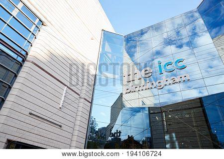 Birmingham, UK - 6 November 2016: Exterior Of The Birmingham International Convention Centre