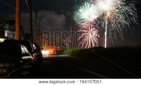 Fourth of july fireworks exploding in the air 2