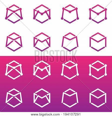Letter M. Logo letter M vector design. Modern design logo
