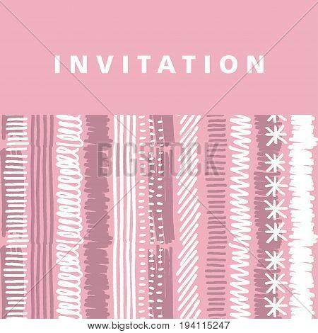 pale pink hand drawn vector stripe background