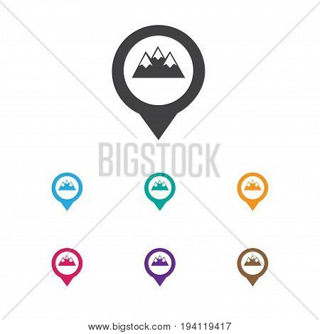 Vector Illustration Of Travel Symbol On Pinpoint Icon. Premium Quality Isolated Location Element In Trendy Flat Style.