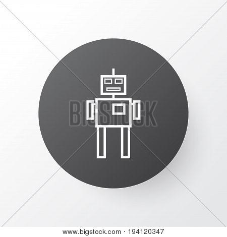 Robot Icon Symbol. Premium Quality Isolated Cyborg Element In Trendy Style.