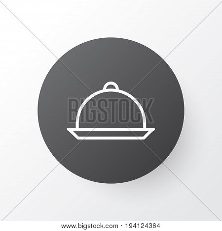 Tray Icon Symbol. Premium Quality Isolated Platter Element In Trendy Style.