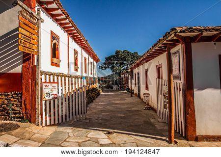 Pirenopolis, Brazil - July 2, 2017: Pirenopolis Street